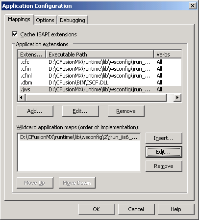 IIS configuration screenshot